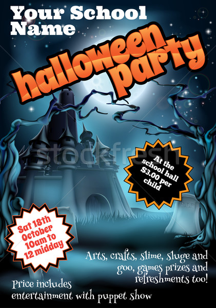 Halloween Party Flyer Poster Stock photo © Krisdog