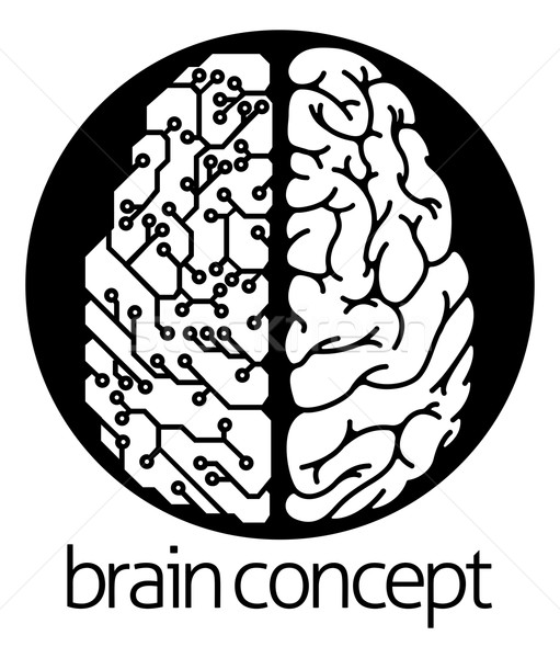 Human brain electrical circuit circle Stock photo © Krisdog