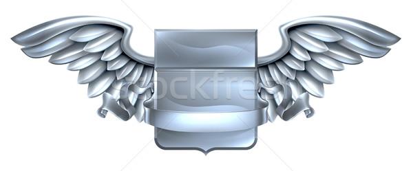 серебро щит выделите дизайна стали металл Сток-фото © Krisdog