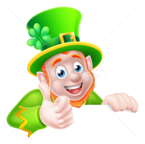 St Patricks Day Leprechaun Illustration Stock photo © Krisdog