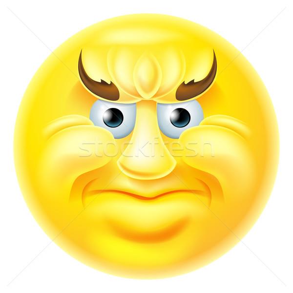 Angry Emoji Emoticon Man Stock photo © Krisdog