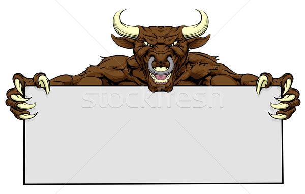 Bull Sign Stock photo © Krisdog