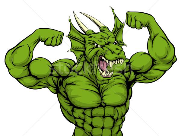 Mean Dragon Mascot Stock photo © Krisdog