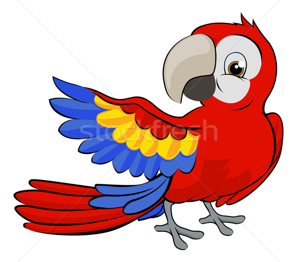 Cartoon Parrot Mascot Stock photo © Krisdog