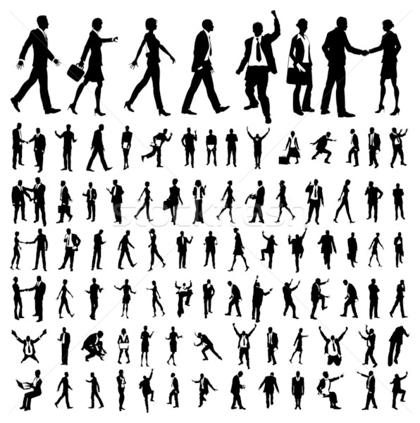 Very many high quality business people silhouettes Stock photo © Krisdog