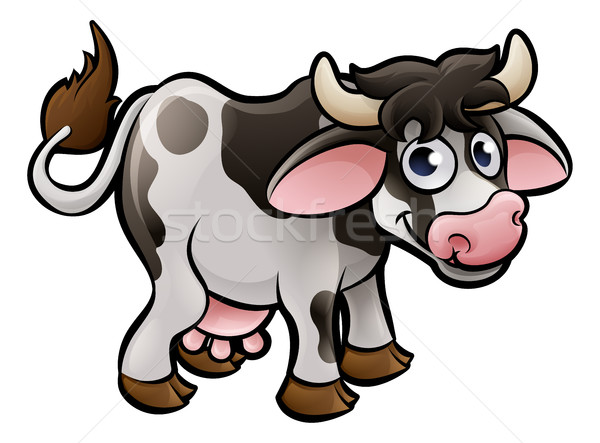 Koe boerderijdieren baby boek melk Stockfoto © Krisdog
