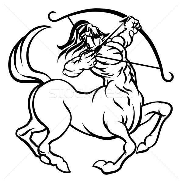 зодиак признаков лучник гороскоп астрология Сток-фото © Krisdog