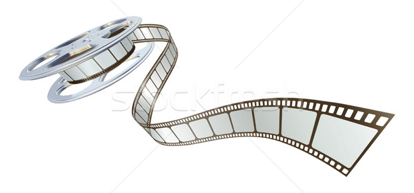 Movie film spooling out of film reel Stock photo © Krisdog