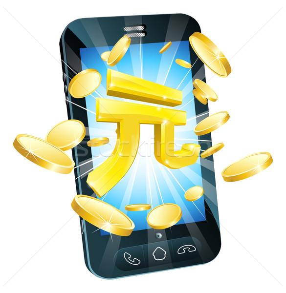 ストックフォト: お金 · 電話 · 実例 · 携帯 · 携帯電話 · 金