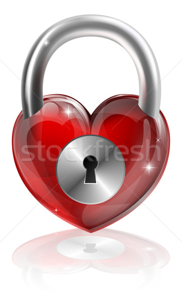 Locked heart concept Stock photo © Krisdog