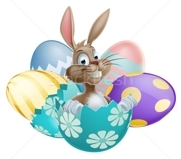 Easter Bunny with Eggs Stock photo © Krisdog