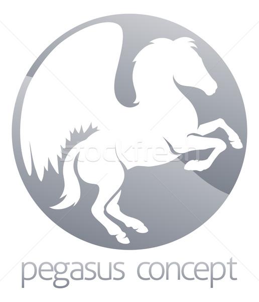 Pegasus circle concept Stock photo © Krisdog