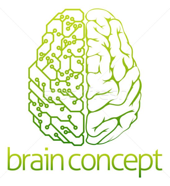 Cérebro elétrico circuito projeto abstrato ilustração Foto stock © Krisdog