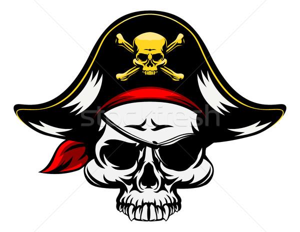 Pirate Skull Stock photo © Krisdog