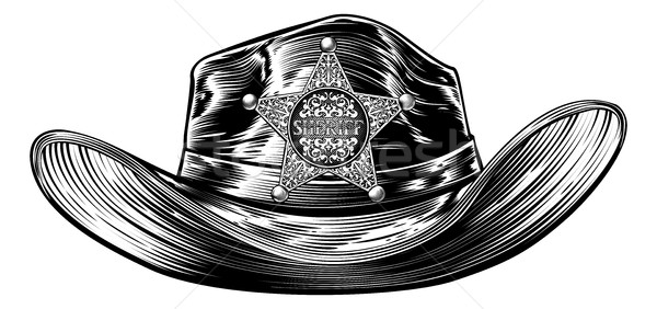 Cowboy Hat with Sheriff Star Badge Stock photo © Krisdog