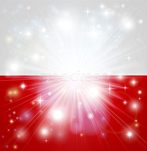 Polish flag background Stock photo © Krisdog