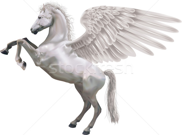 rearing pegasus horse illustration Stock photo © Krisdog