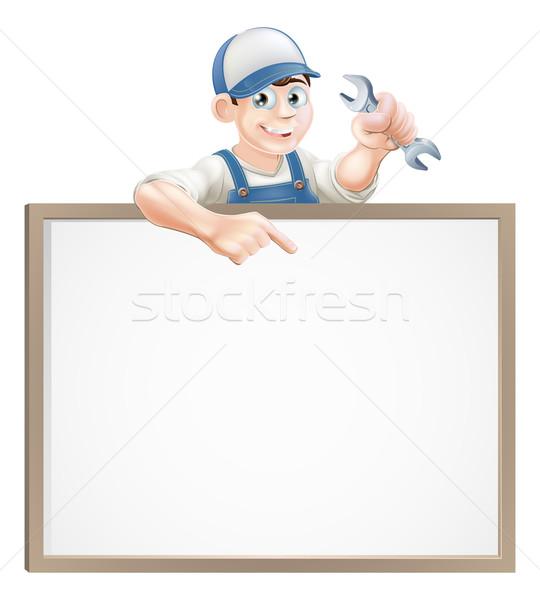 Mechanic or plumber sign Stock photo © Krisdog