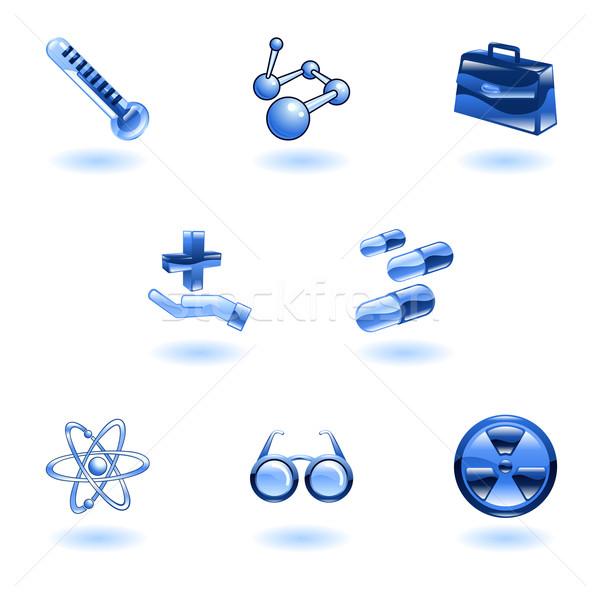 медицинской иконки крест Сток-фото © Krisdog