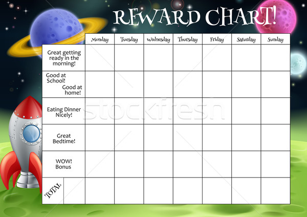 Childs Reward or Chore Chart Stock photo © Krisdog