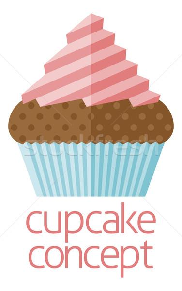 Cupcake concept design Stock photo © Krisdog