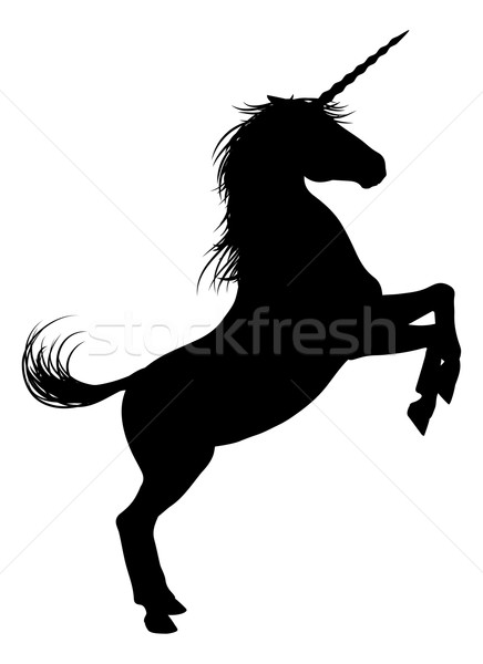 Unicorn Horse Silhouette Stock photo © Krisdog