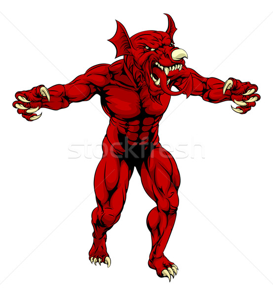 Scary Welsh Red Dragon Stock photo © Krisdog