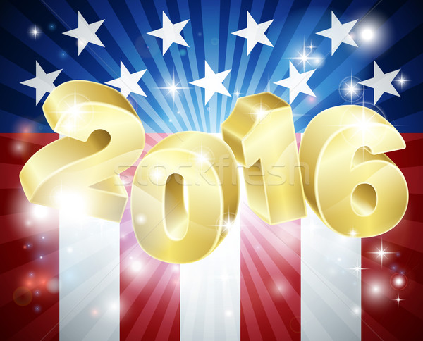 2016 Amerikaanse vlag verkiezing vlag ontwerp jaar Stockfoto © Krisdog