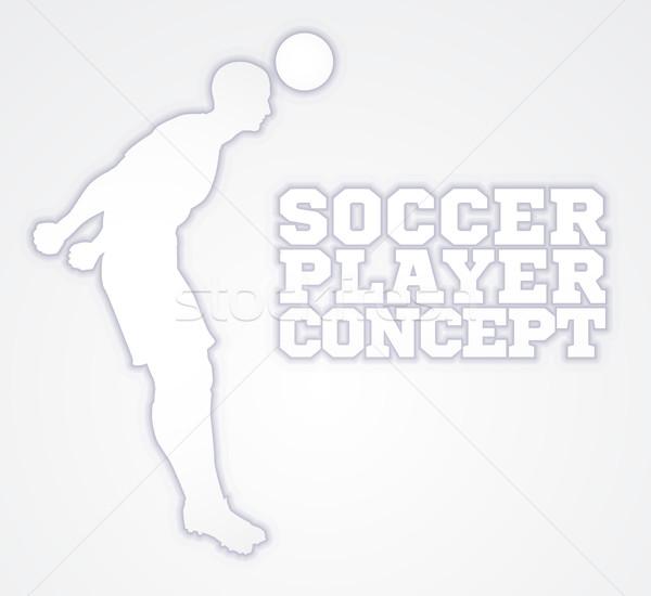 Silhouette Football Player Concept Stock photo © Krisdog