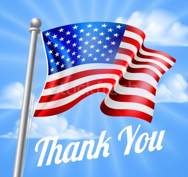 Nap köszönjük amerikai zászló terv integet zászló Stock fotó © Krisdog