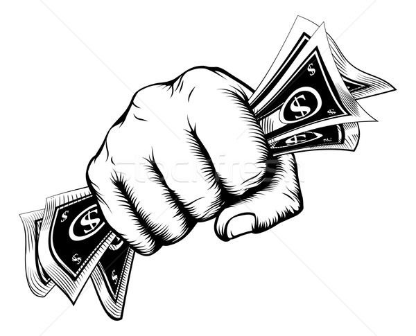 Fist holding money concept Stock photo © Krisdog