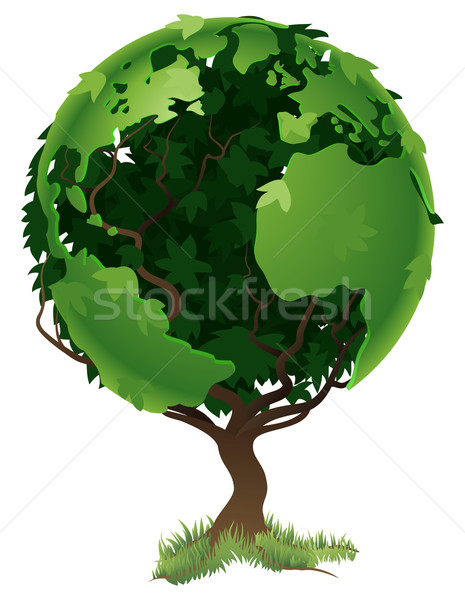 Globe world tree concept Stock photo © Krisdog