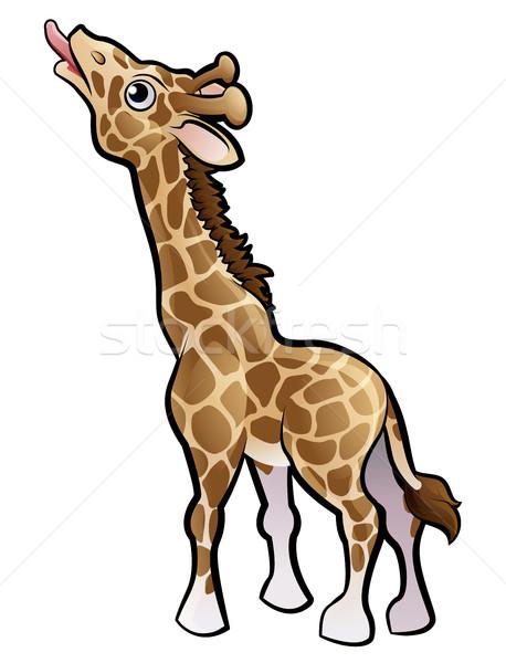 Giraffe safari dieren boek kind leuk Stockfoto © Krisdog