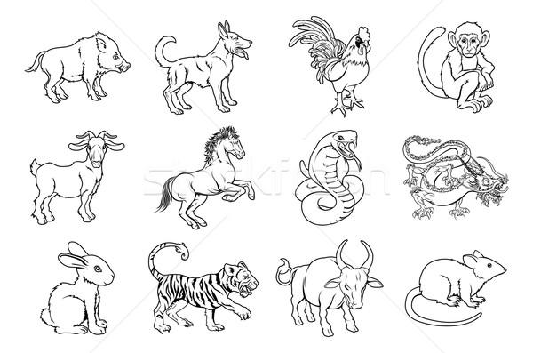 Chinese Zodiac Signs Stock photo © Krisdog