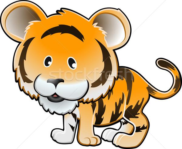 Cute tijger vector illustratie kinderen kind Stockfoto © Krisdog