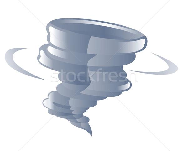 Tornado ilustração nuvem tempo spiralis vetor Foto stock © Krisdog