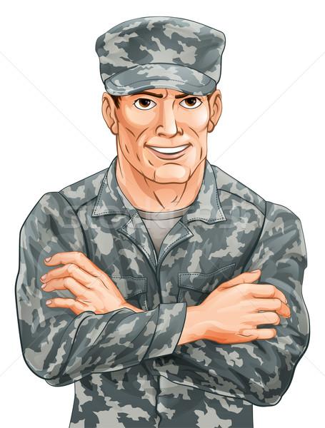 Handsome Soldier Stock photo © Krisdog
