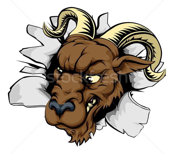 Ram sports mascot breakthrough Stock photo © Krisdog