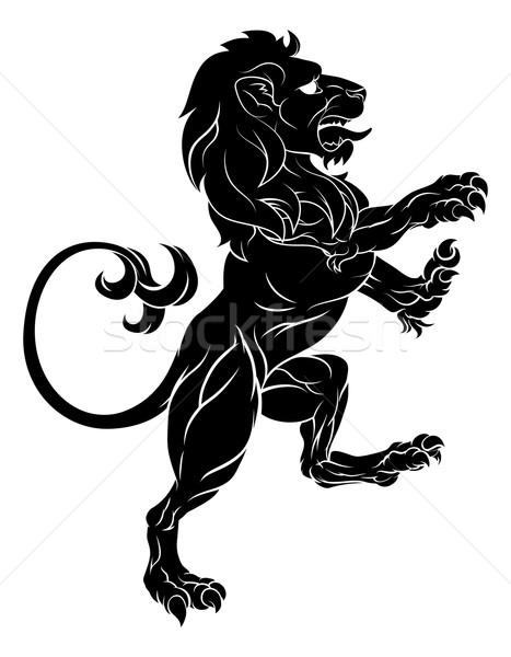 Lion on Hind Legs Stock photo © Krisdog