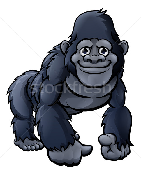 Cartoon cute gorilla vriendelijk aap aap Stockfoto © Krisdog