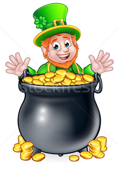 Pot of Gold Saint Patricks Day Leprechaun Stock photo © Krisdog
