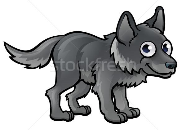 волка животного талисман собака лице Сток-фото © Krisdog