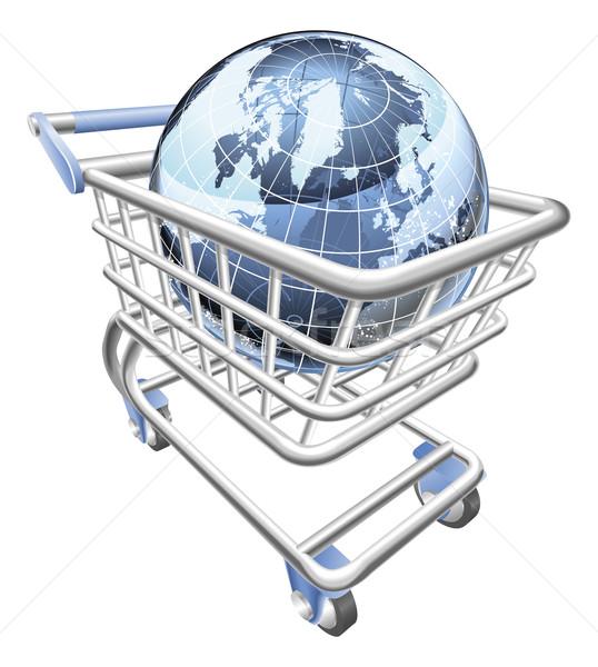 Globe shopping cart concept  Stock photo © Krisdog