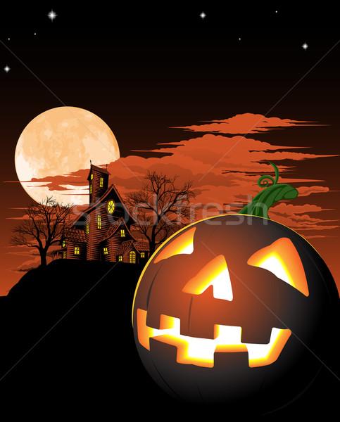 Halloween pumpkin background Stock photo © Krisdog