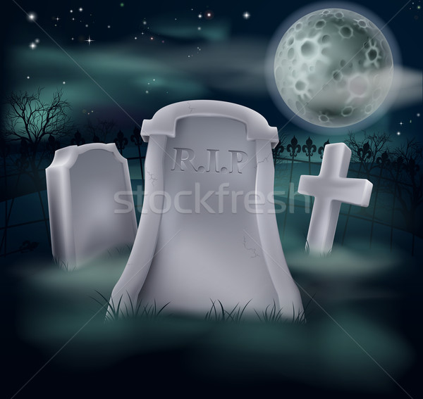 Spooky grave Stock photo © Krisdog