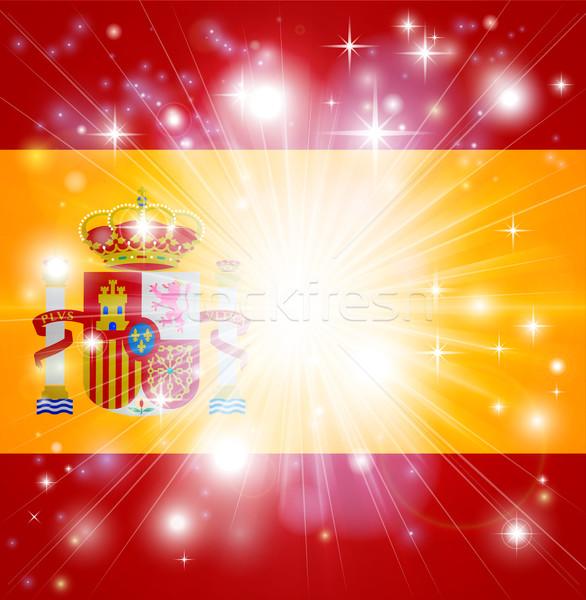 Spanish flag background Stock photo © Krisdog