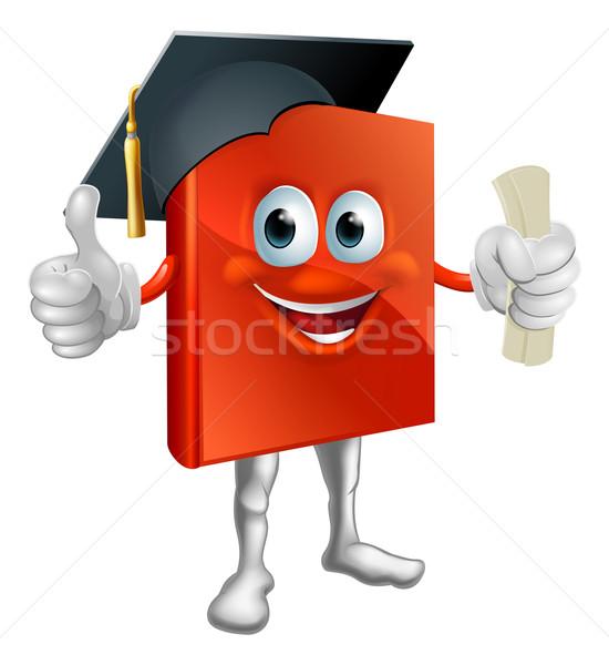 Graduation book mascot Stock photo © Krisdog