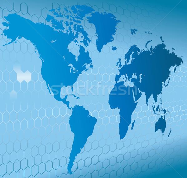 динамический 3D Мир карта мира карта аннотация Сток-фото © Krisdog