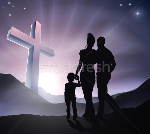 Easter Christian Cross Family Stock photo © Krisdog