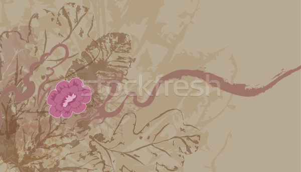 leafy floral background Stock photo © Krisdog